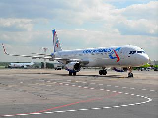 Airbus A321 Ural airlines at Domodedovo airport