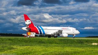Самолет Суперджет-100 RA-89087 авиакомпании