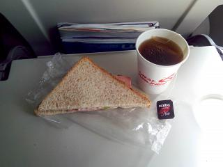Flight meals on the flight Ural airlines Moscow-Sochi