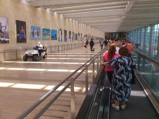 The corridor is the clean area in the airport Ben Gurion in tel Aviv