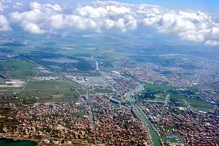 The city of Fiumicino in Italy