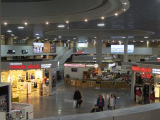 Cafes and shops in the refurbished Pulkovo-1 terminal