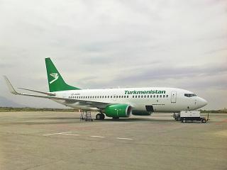 Boeing 737-700 Turkmenistan airlines in Ashgabat airport