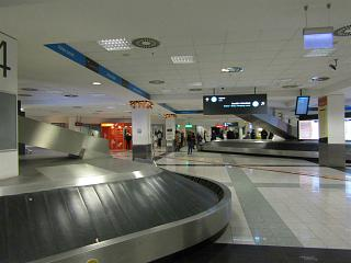 The baggage claim area in terminal 2 of Budapest airport