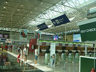 Front Desk Alitalia airlines at the airport of Rome Fiumicino