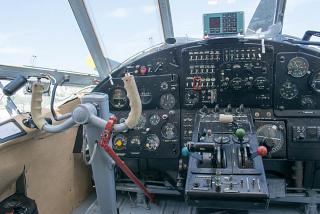 The instrument panel in the cockpit of the aircraft An-2