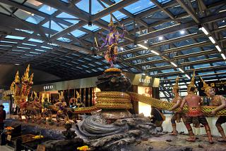 "Sculptural group ""the Churning of the milky ocean"" at the airport Bangkok Suvarnabhumi"