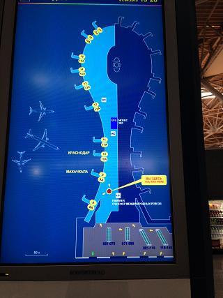 The scheme of terminal A airport Moscow Vnukovo