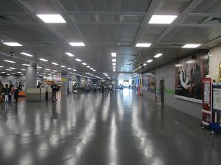 In the clean area of the domestic terminal of airport Busan, Gimhae