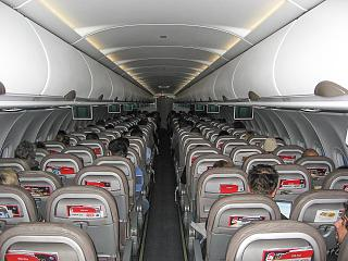 The cabin of the aircraft Airbus A320 Niki