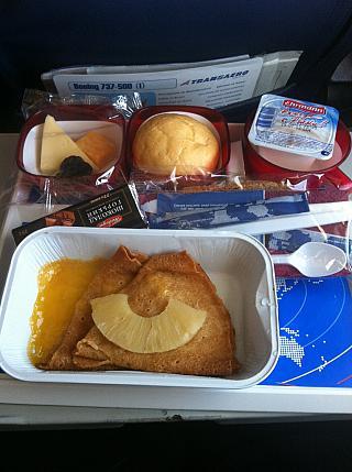 Питание на рейсе Магнитогорск-Москва авиакомпании Трансаэро