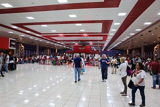 Зал вылета в международном терминале аэропорта Гавана Хосе Марти