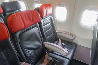The passenger seats in the Airbus A320 Turkish airlines