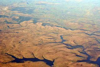 Водохранилище Claerwen в Уэльсе