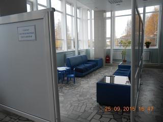 Sector for transfer passengers at the airport of Syktyvkar