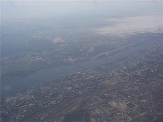 In flight over Riga