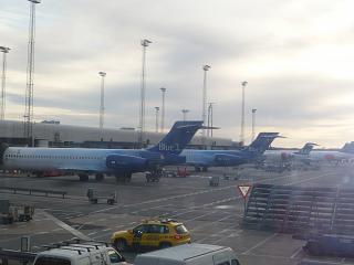 At the airport of Copenhagen Kastrup