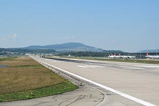 The runway of Zurich airport