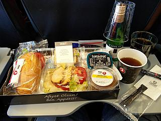 Food on flight Kyiv-Istanbul Turkish airlines