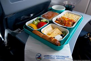 Питание на рейсе Киев-Баку авиакомпании АЗАЛ