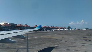 The international terminal of airport Denpasar Ngurah Rai international