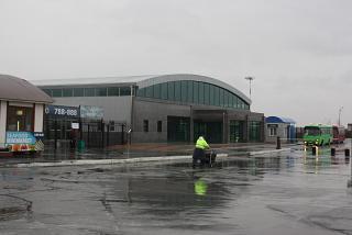 Terminal baggage claim at the airport Yuzhno-Sakhalinsk Khomutovo