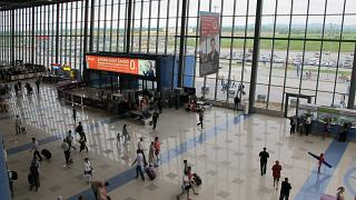 In the terminal of Vladivostok airport Knevichi