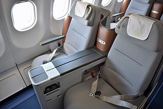 Seats in business class in Airbus A330-300 of Lufthansa