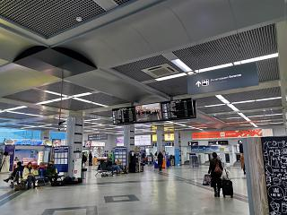 Inside the passenger terminal of the Mineralnye Vody airport