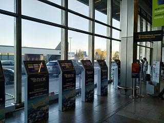 Стойки самостоятельной регистрации в аэропорту Рига