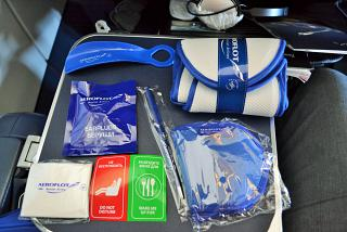 Amenity kit in business class of Aeroflot for the flight Frankfurt-Moscow