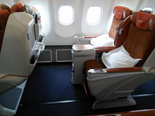 "Seats in business class ""President"" in the Airbus A330-300 Aeroflot"