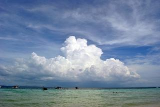 Cloud over the Andaman sea in Krabi province