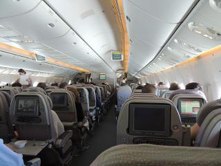 The passenger Boeing-777-300 Emirates airlines