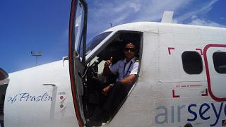 The pilot of the aircraft DHC-6 Twin Otter Air Seychelles