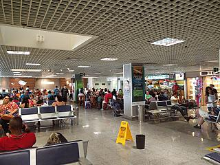 The waiting room in a clean area of the airport of Foz do igua