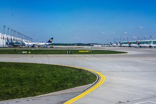The apron of the Munich airport