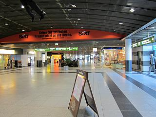 The arrivals area at the airport Dortmund