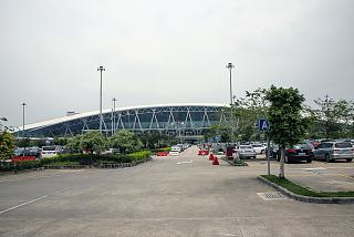 Parking at the passenger terminal of Guangzhou Baiyun international airport