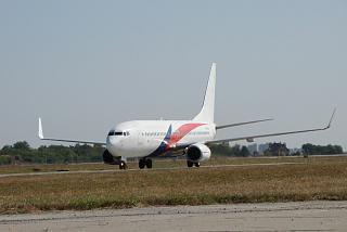 Boeing 737-800 UR-SQA airlines SkyUp in Kharkov airport