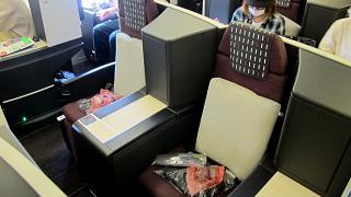 Бизнес-класс в Боинге-767-300 Японских авиалиний