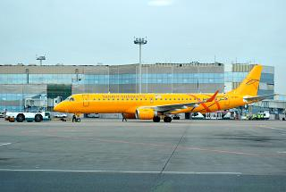The Embraer 195 Saratov airlines at Domodedovo airport