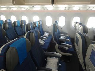 Economy class on the Boeing-787-8 airline LOT
