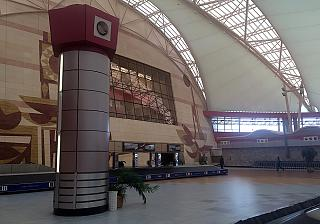 Baggage claim in the international terminal of the airport of Sharm-El-Sheikh