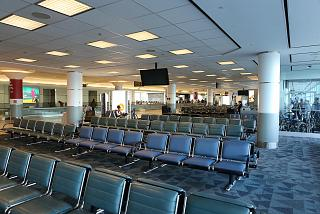 Place to wait in a clean area of terminal 3 of Toronto Pearson international airport