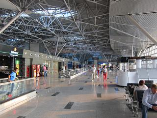 In the clear zone of international flights Terminal And Vnukovo airport