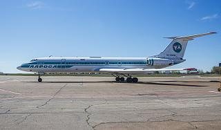"The Tu-134 RA-65693 airlines ""ALROSA"" in the Irkutsk airport"