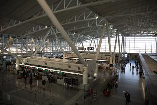 The North wing of the departure area of Fukuoka airport