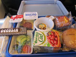 Бортовое питание на рейсе Санкт-Петербург - Новосибирск авиакомпании