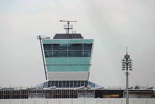Диспетчерская башня на Терминале 2 аэропорта Мюнхен